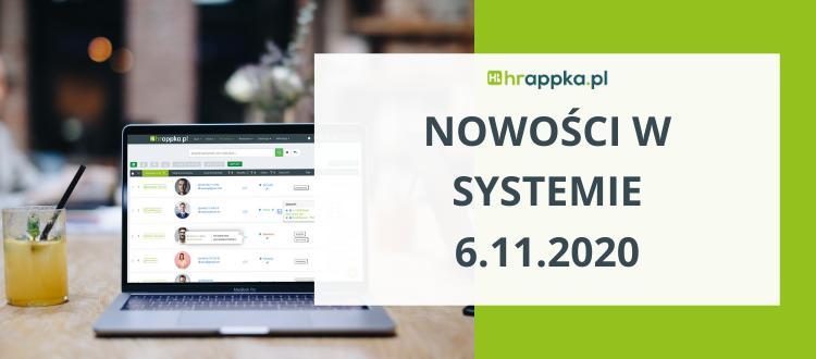 nowości w systemie HRappka.pl